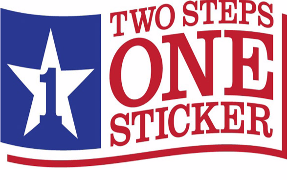 Texas car state inspection sticker 11